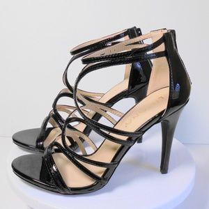 Size 8 Medium Strappy Open Toe High Heel